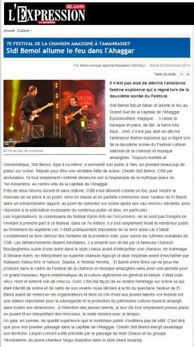 l'Expression du 23/12/2014