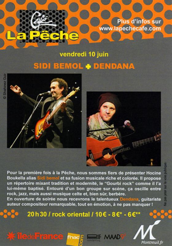 Sidi Bémol et Dendana en concert au Café La Pêche à Montreuil (93)