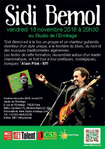 Sidi Bémol en concert à Paris @ Studio de l'Ermitage, 8 Rue de l'Ermitage, 75020 Paris-20E-Arrondissement, France | Paris-20E-Arrondissement | Île-de-France | France