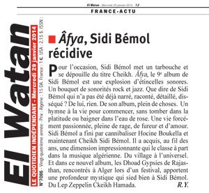 El Watan, janvier 2014